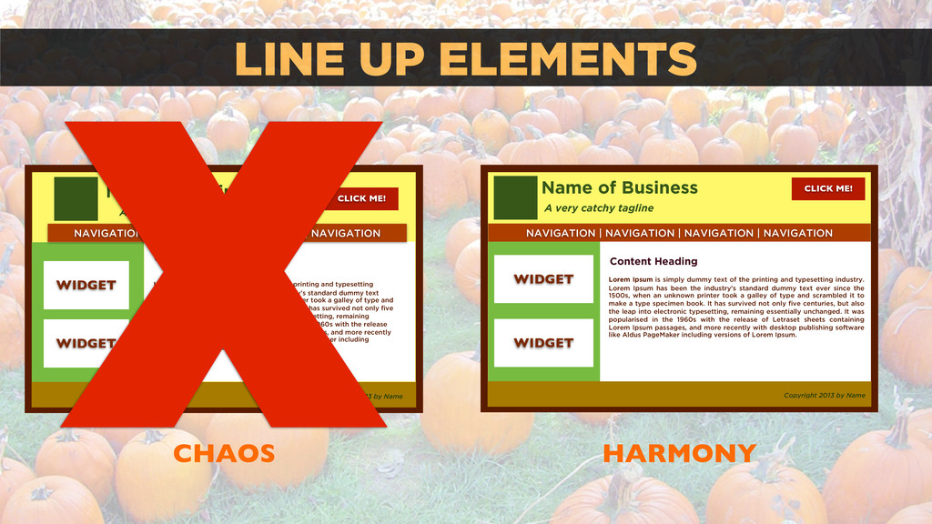 LINE UP ELEMENTS CHAOS HARMONY Name of Business...