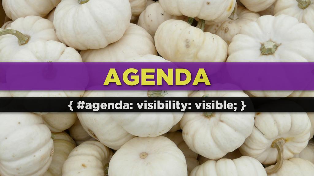 AGENDA { #agenda: visibility: visible; }