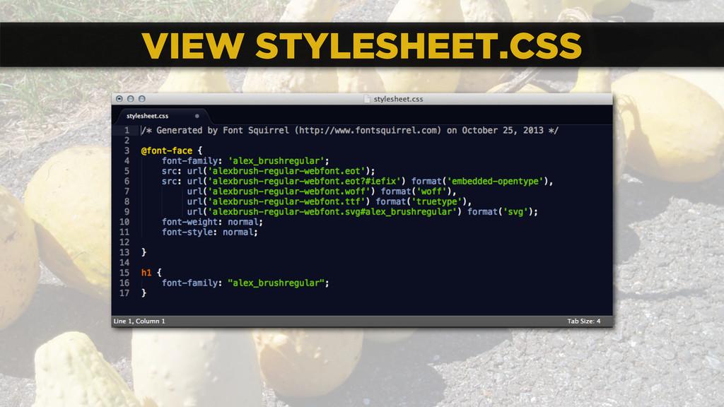 VIEW STYLESHEET.CSS
