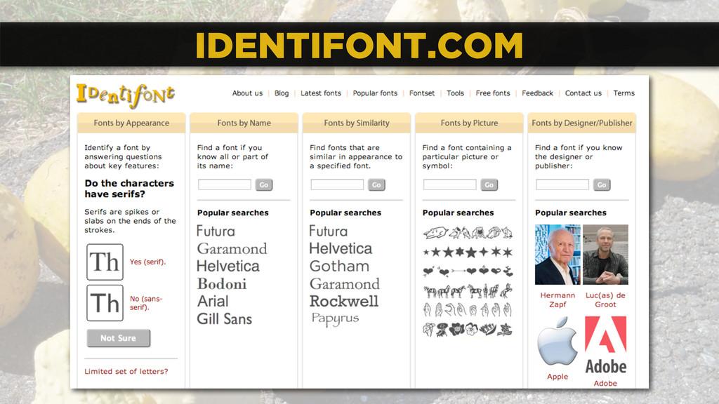 IDENTIFONT.COM