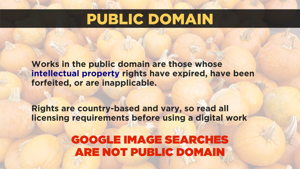PUBLIC DOMAIN Works in the public domain are th...