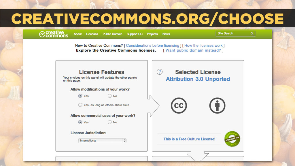 CREATIVECOMMONS.ORG/CHOOSE