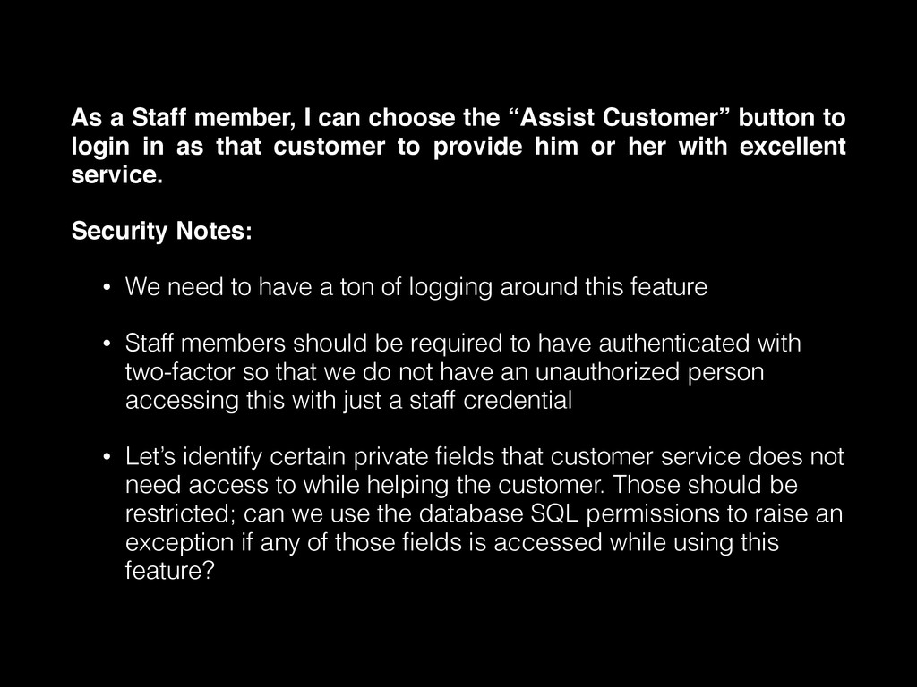 """As a Staff member, I can choose the """"Assist Cus..."""