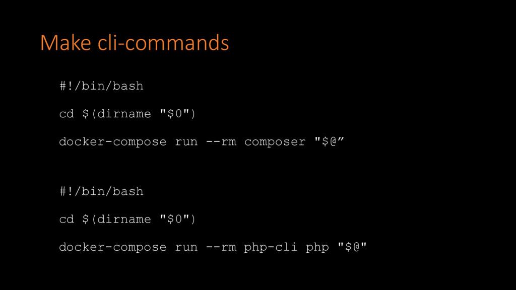 "Make cli-commands #!/bin/bash cd $(dirname ""$0""..."