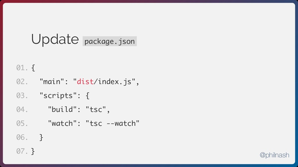 "Update package.json { ""main"": ""dist/index.js"", ..."