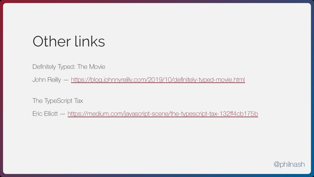 Other links Definitely Typed: The Movie  John R...