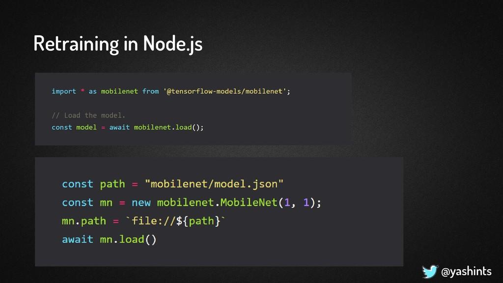 @yashints Retraining in Node.js