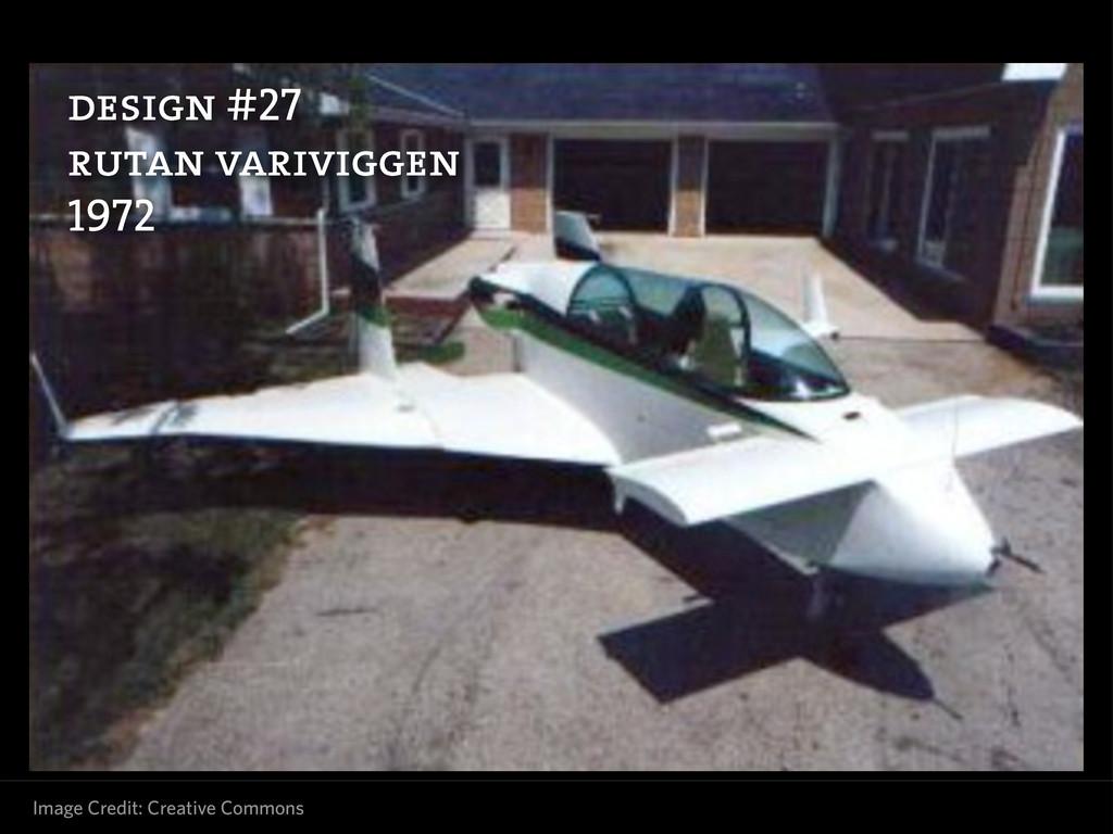 design #27 rutan variviggen 1972 Image Credit: ...