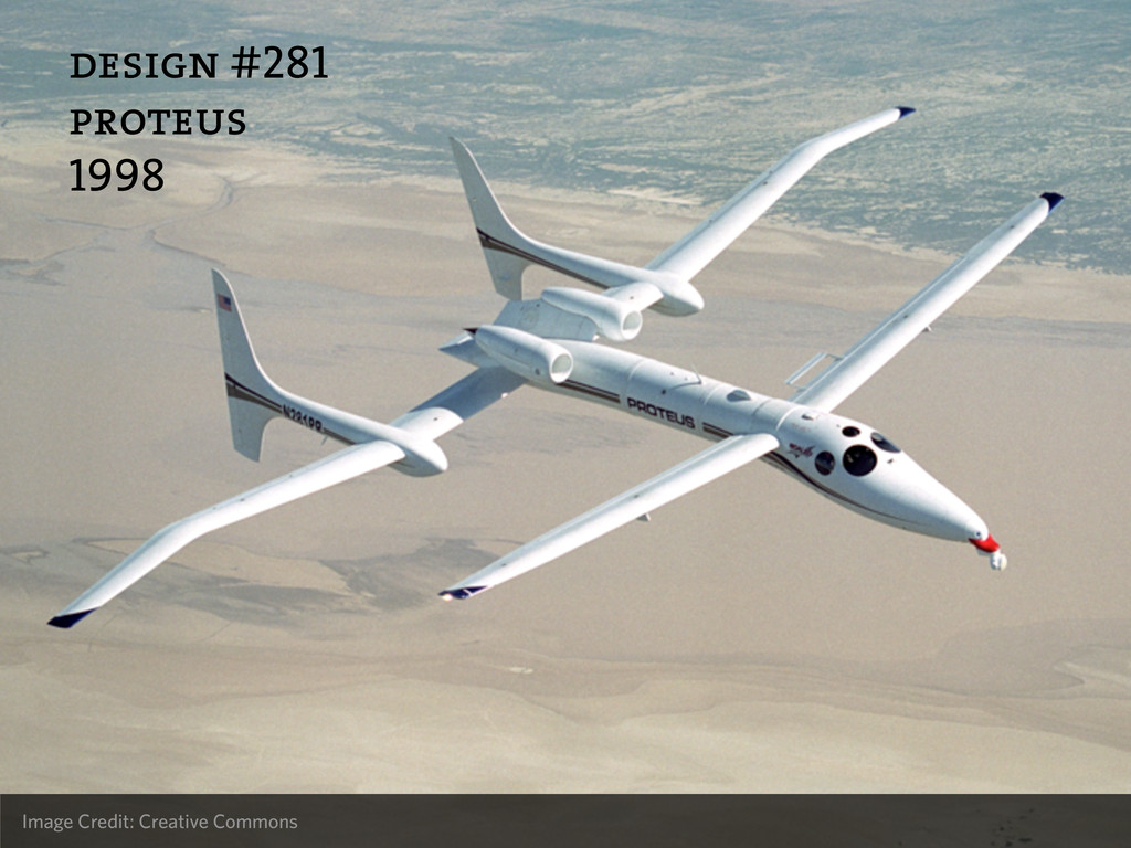 design #281 proteus 1998 Image Credit: Creative...