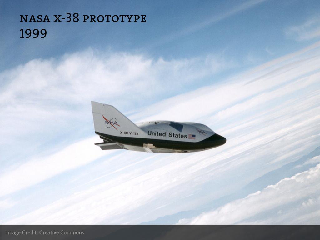 nasa x-38 prototype 1999 Image Credit: Creative...