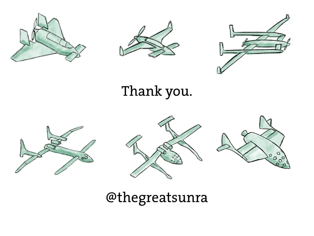 Thank you. @thegreatsunra