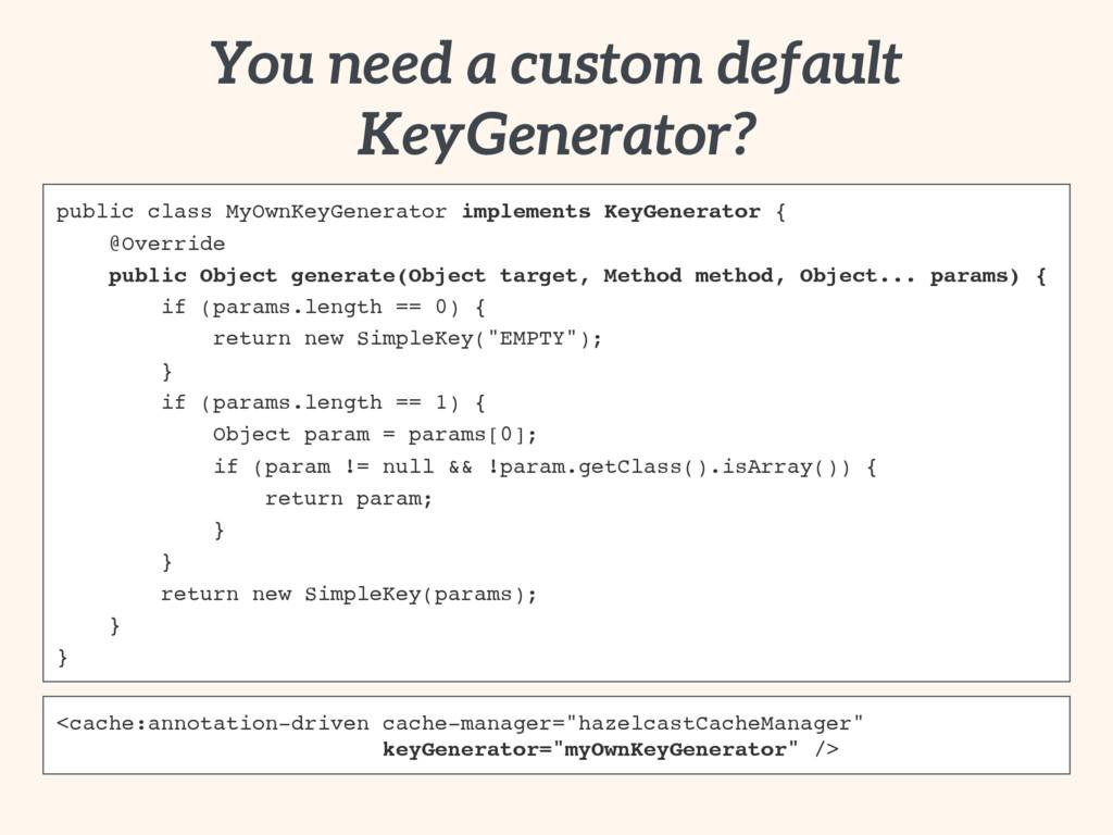 public class MyOwnKeyGenerator implements KeyGe...
