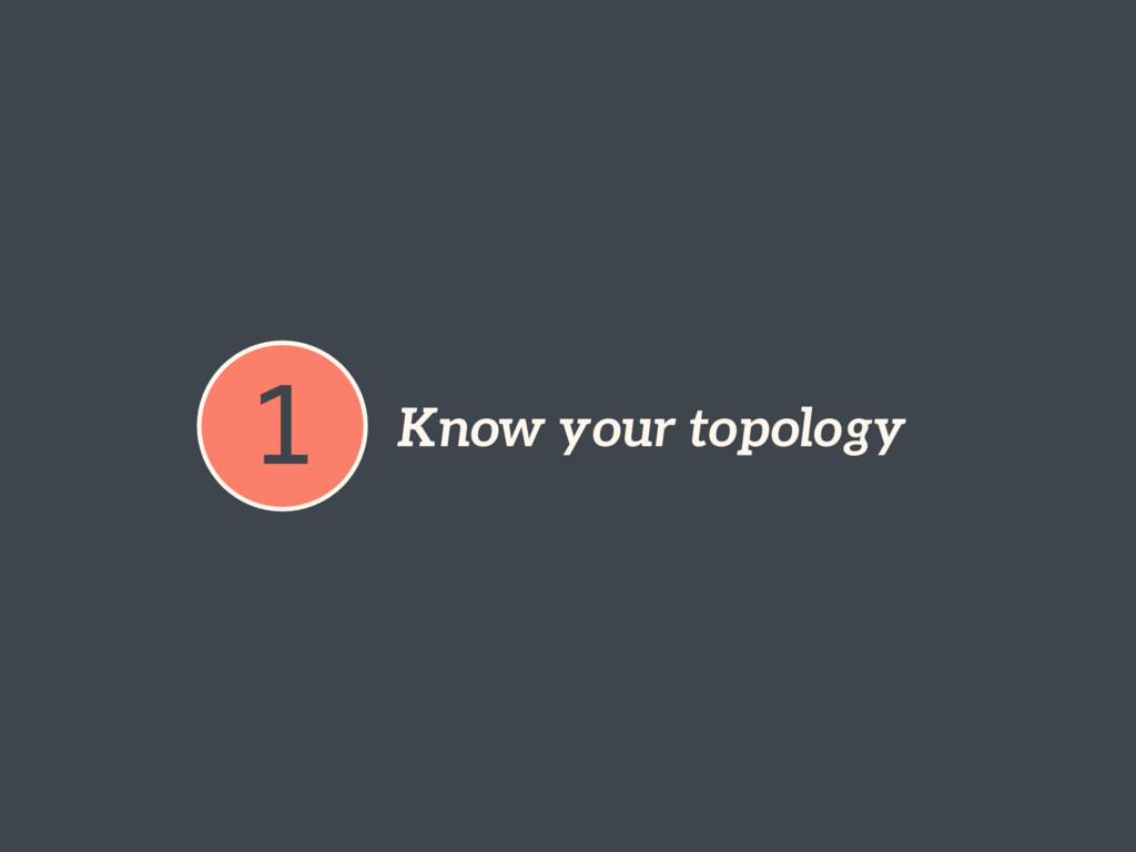 1 Know your topology
