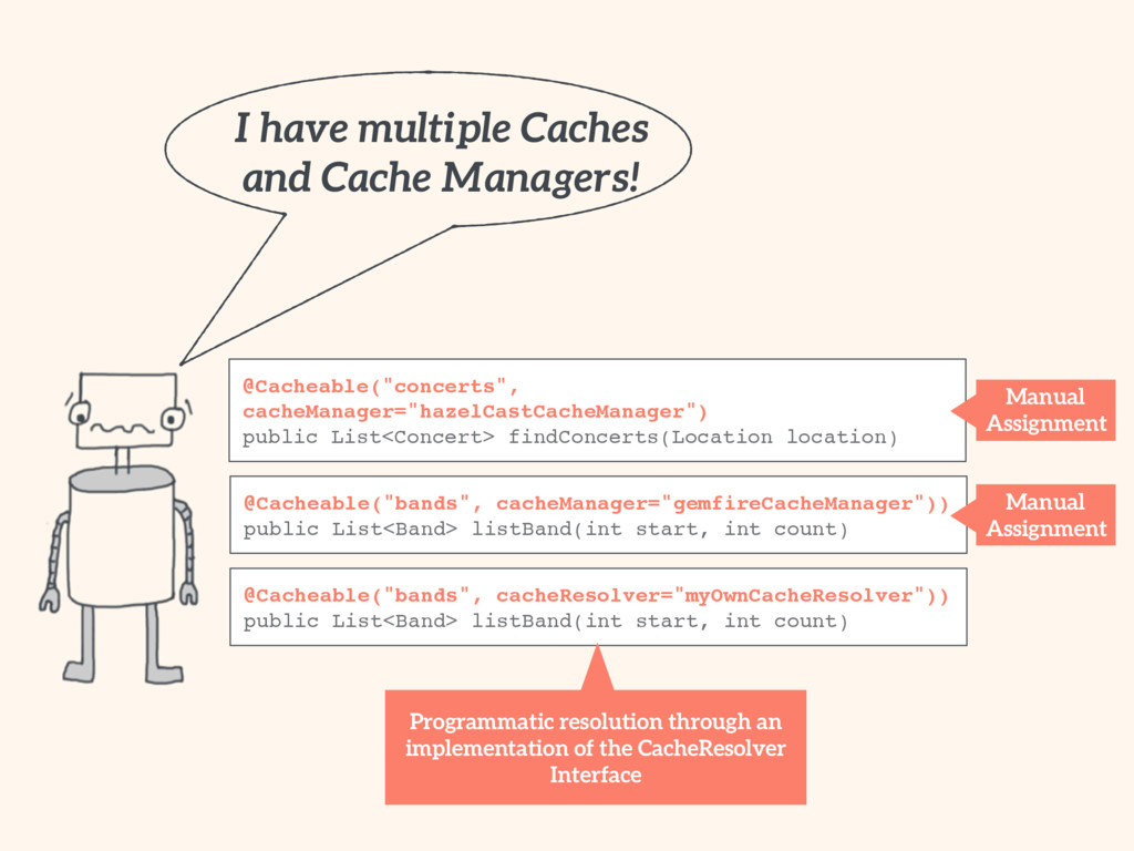 I have multiple Caches and Cache Managers! @Ca...