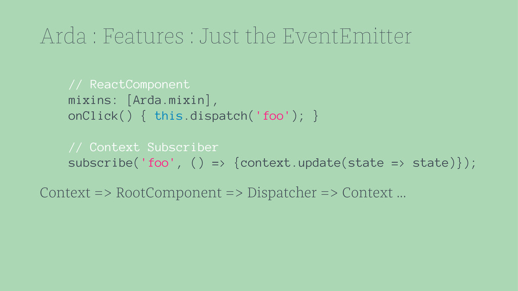 Arda : Features : Just the EventEmitter // Reac...