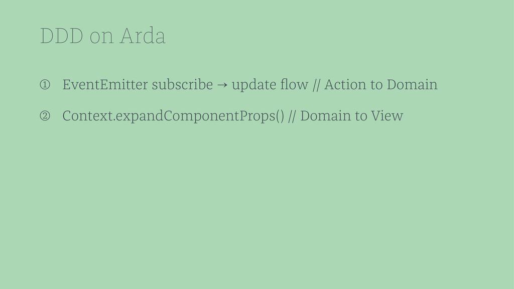 DDD on Arda ➀ EventEmitter subscribe → update fl...