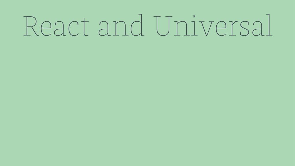 React and Universal
