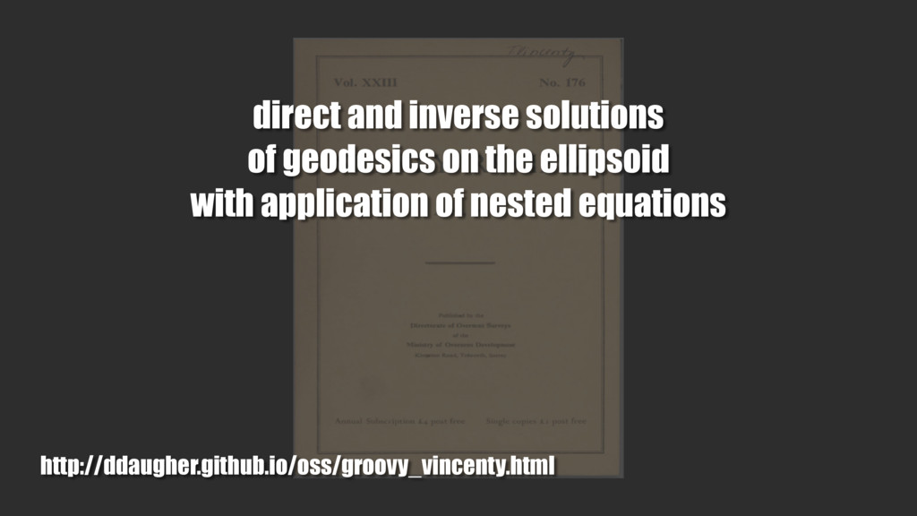 direct and inverse solutions of geodesics on th...