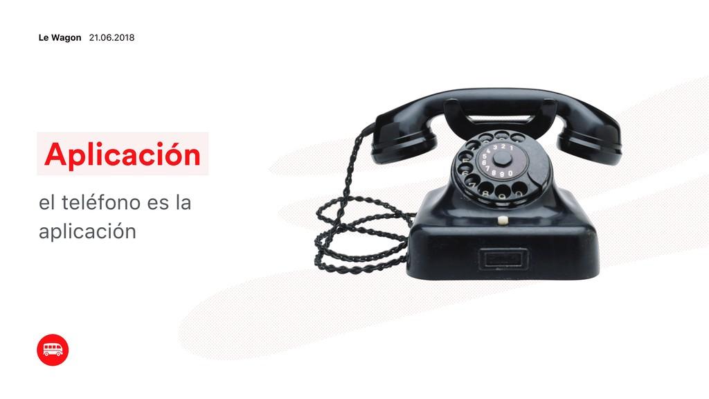 Aplicación el teléfono es la aplicación Le Wago...