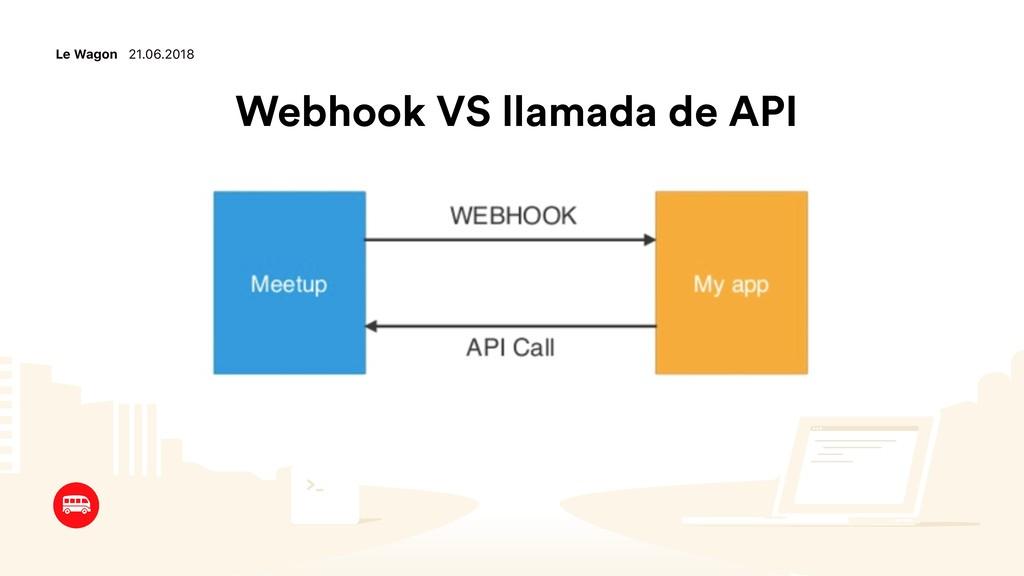 Le Wagon 21.06.2018 Webhook VS llamada de API