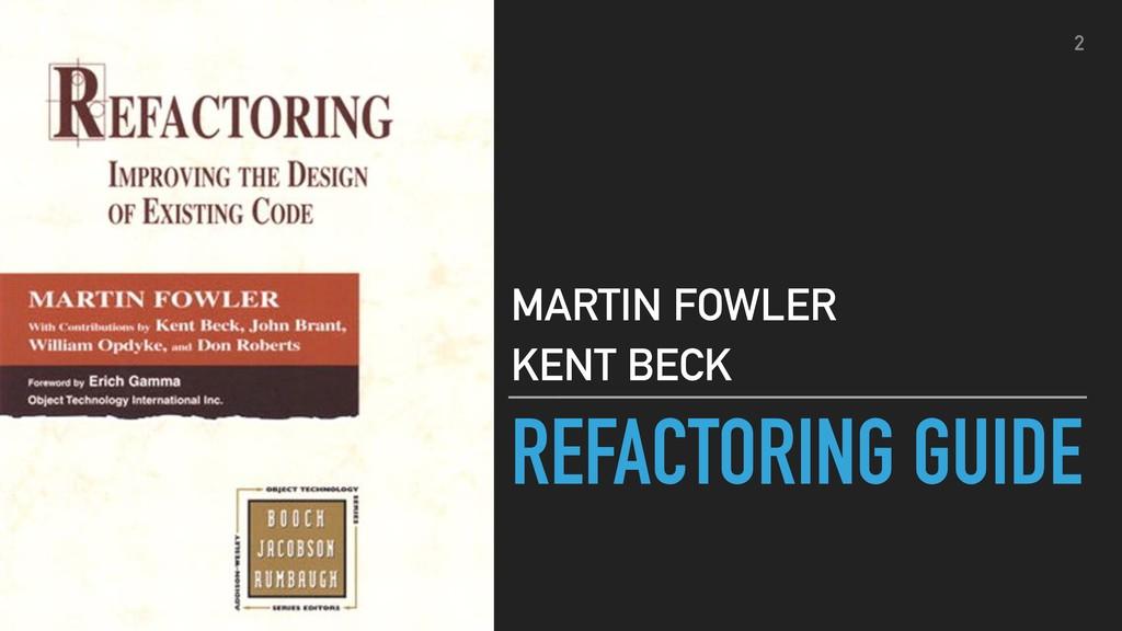 REFACTORING GUIDE MARTIN FOWLER KENT BECK 2
