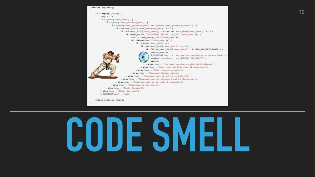 CODE SMELL 10