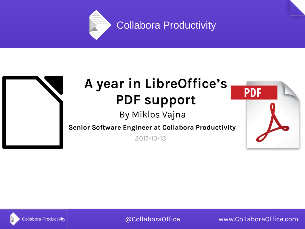 A year in LibreOffice's PDF support By Miklos V...