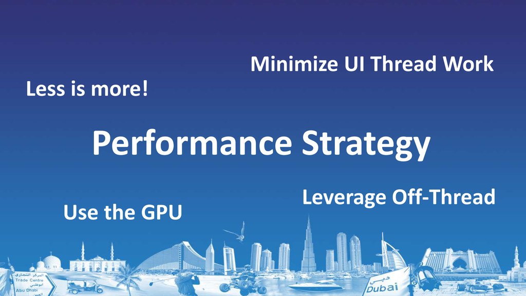 Performance Strategy Minimize UI Thread Work Le...