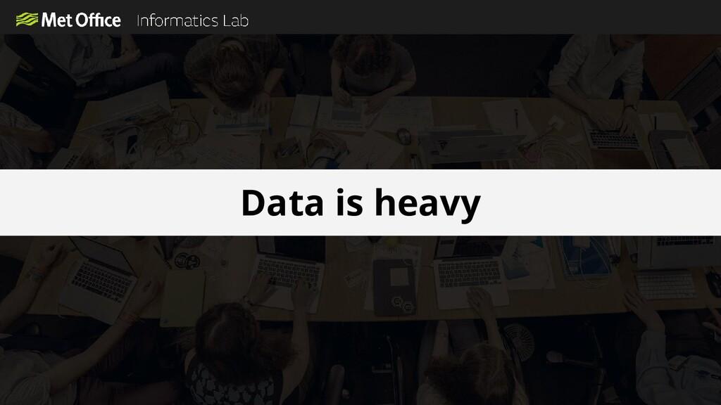 Data is heavy