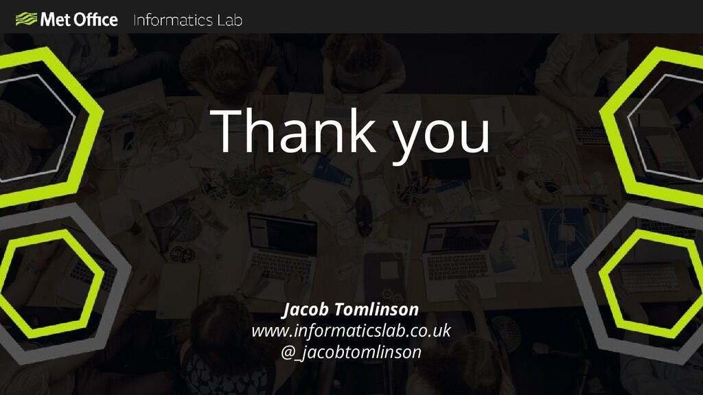 Thank you Jacob Tomlinson www.informaticslab.co...