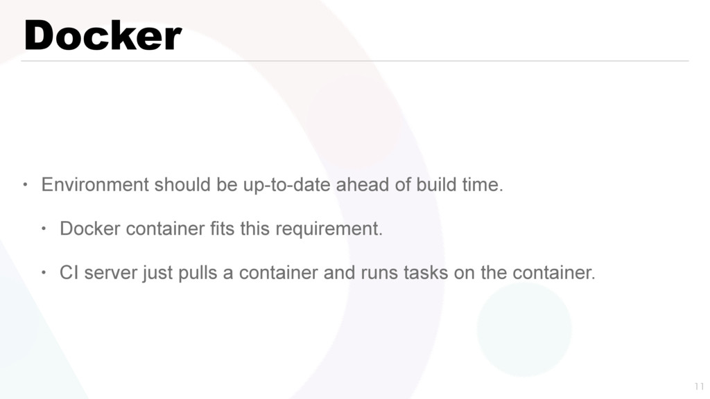 Docker • Environment should be up-to-date ahead...
