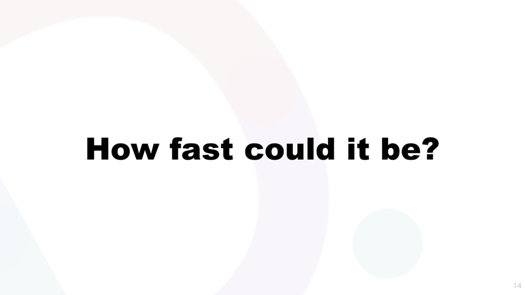 How fast could it be?