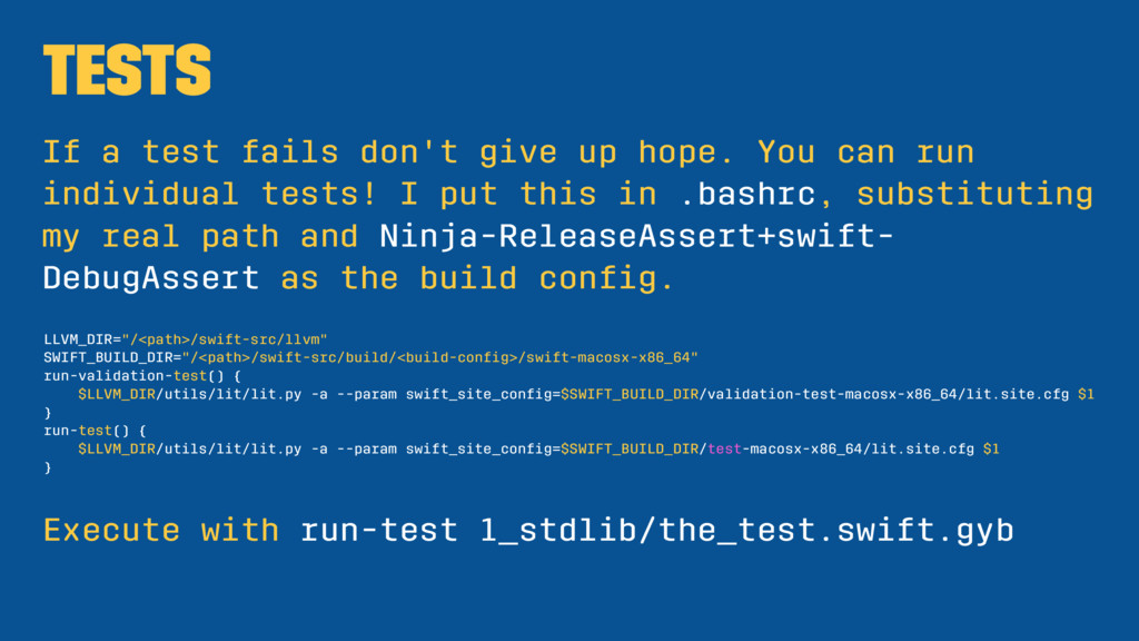 Tests If a test fails don't give up hope. You c...