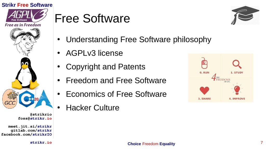 7 Strikr Free Software 20 @strikrio foss@strikr...