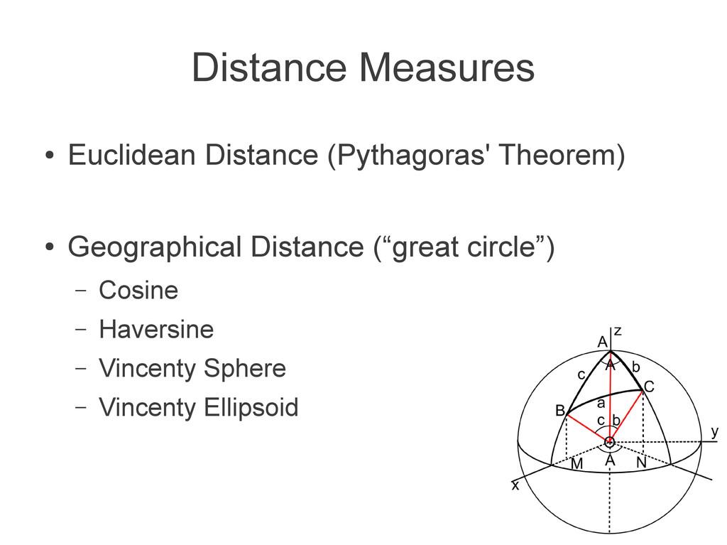 ● Euclidean Distance (Pythagoras' Theorem) ● Ge...