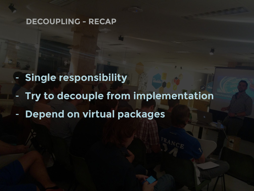 DECOUPLING - RECAP - Single responsibility - Tr...