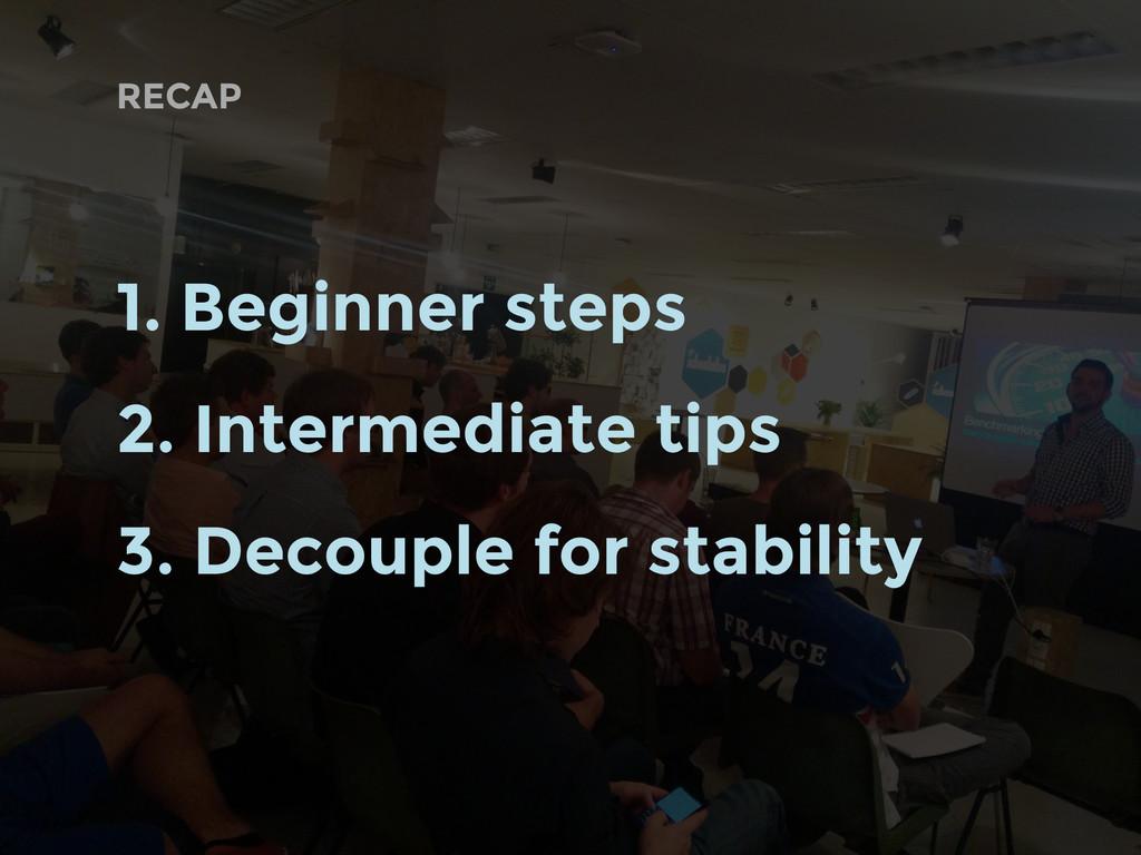 RECAP 1. Beginner steps 2. Intermediate tips 3....