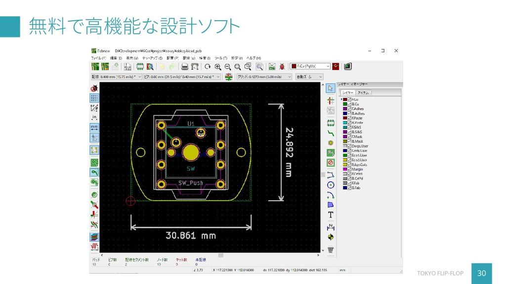 無料で高機能な設計ソフト 30 TOKYO FLIP-FLOP