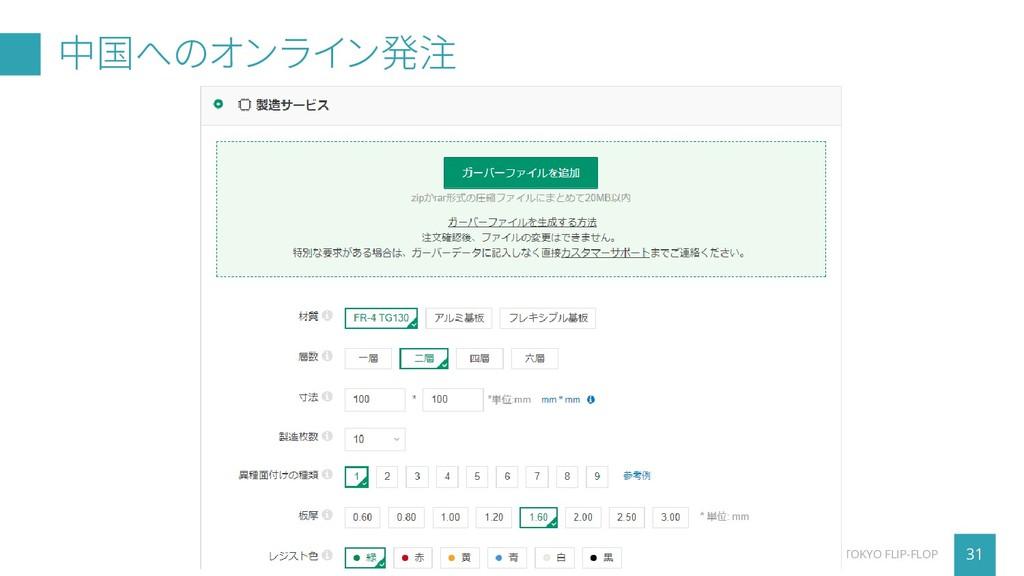 中国へのオンライン発注 31 TOKYO FLIP-FLOP