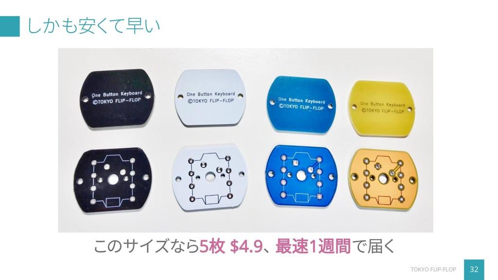 しかも安くて早い 32 TOKYO FLIP-FLOP このサイズなら5枚 $4.9、 最速1...