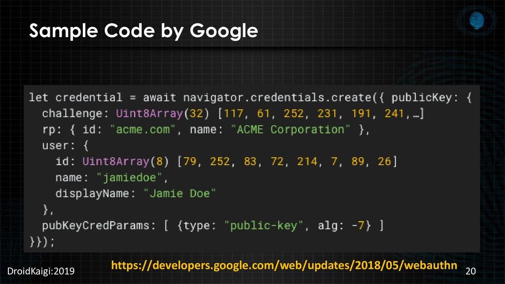 Sample Code by Google DroidKaigi:2019 20 https:...