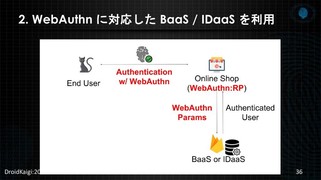 2. WebAuthn に対応した BaaS / IDaaS を利用 DroidKaigi:2...