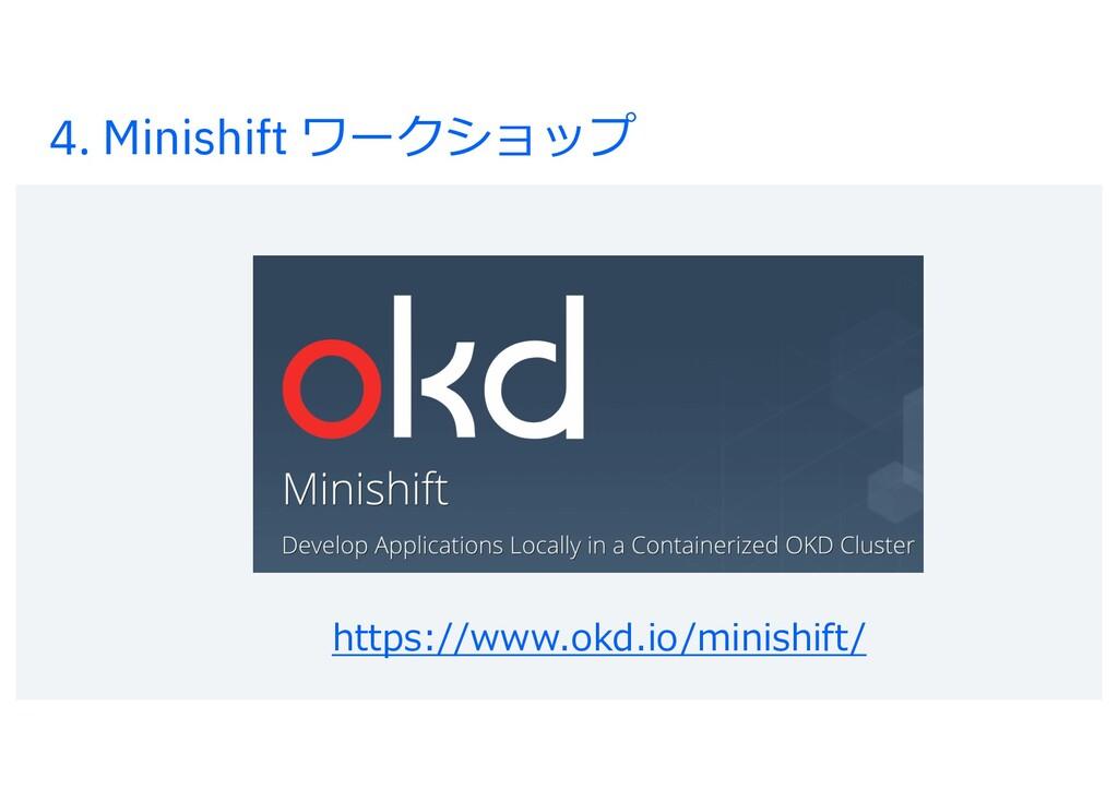 4. Minishift ワークショップ https://www.okd.io/minishi...