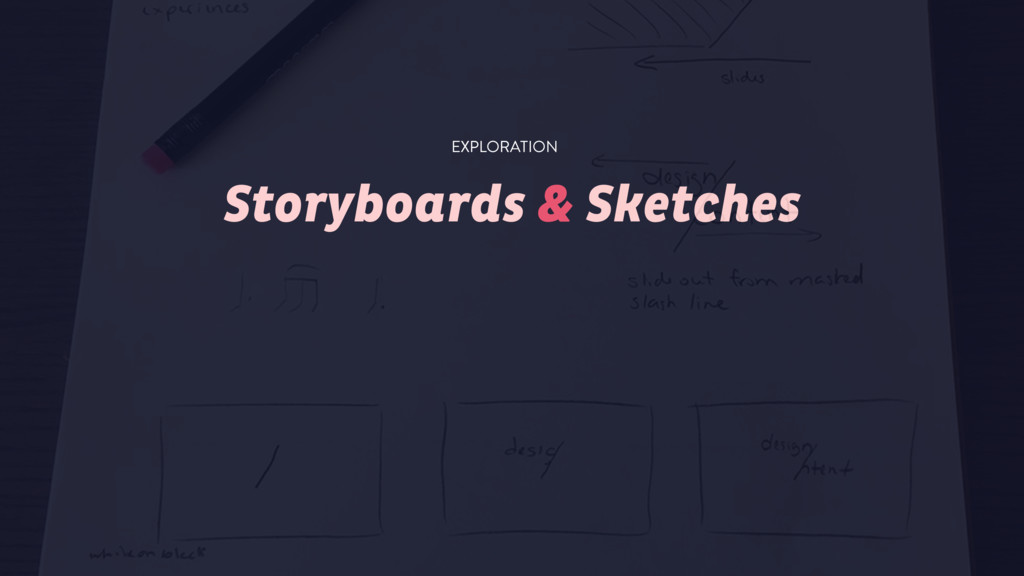 Storyboards & Sketches EXPLORATION
