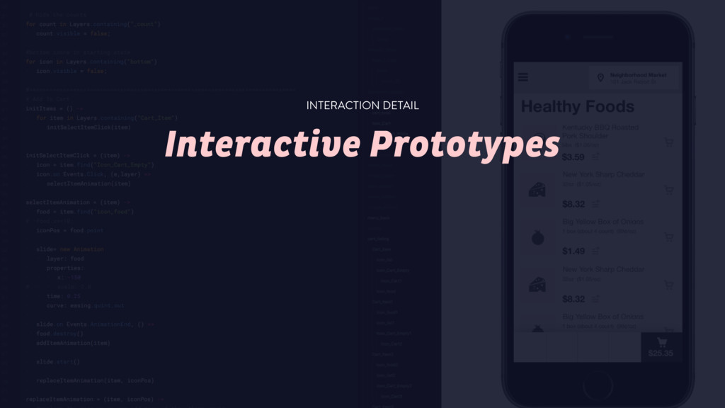 Interactive Prototypes INTERACTION DETAIL