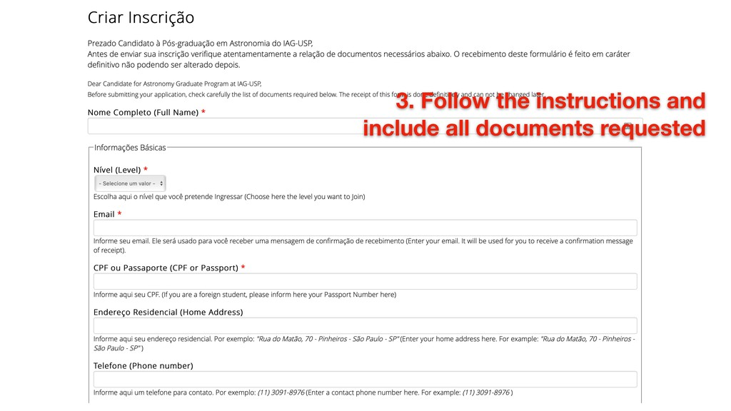 3. Follow the instructions and include all docu...