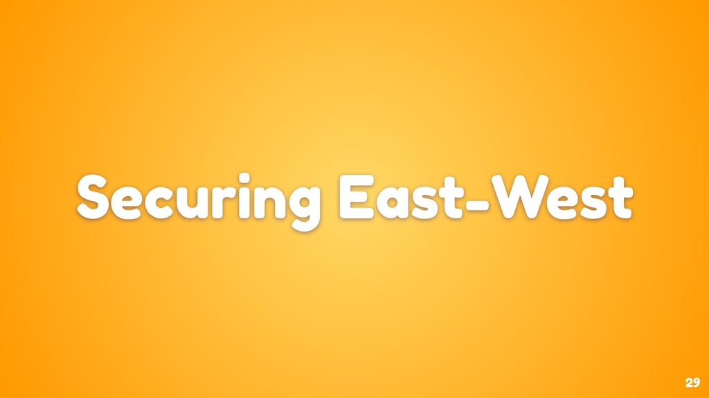 29 Securing East-West