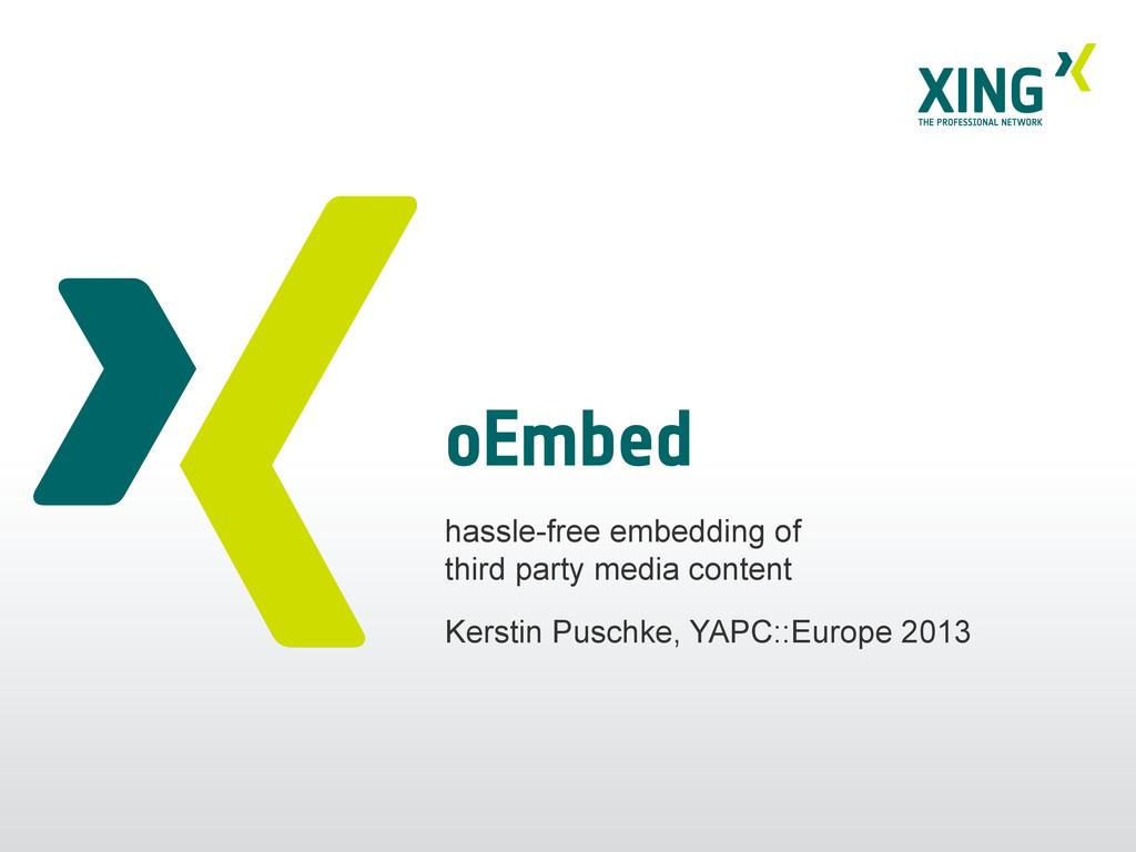 oEmbed hassle-free embedding of third party med...