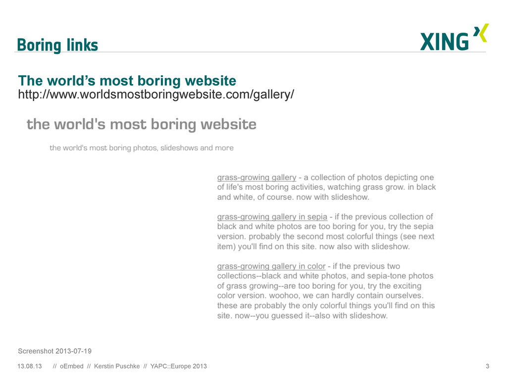 Boring links 3 The world's most boring website ...