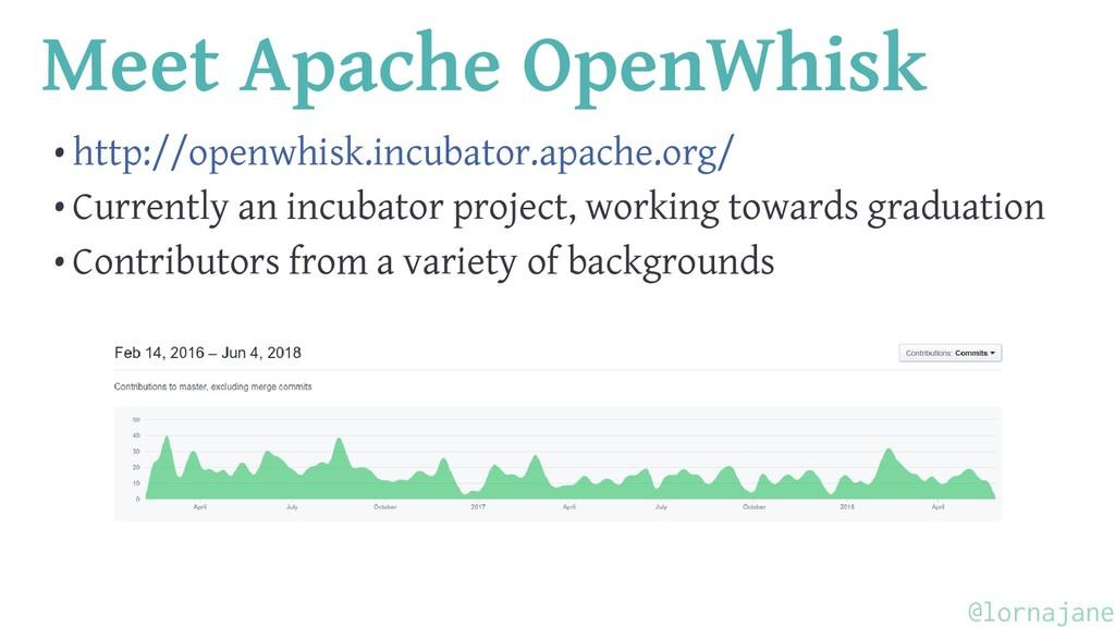 Meet Apache OpenWhisk • http://openwhisk.incuba...